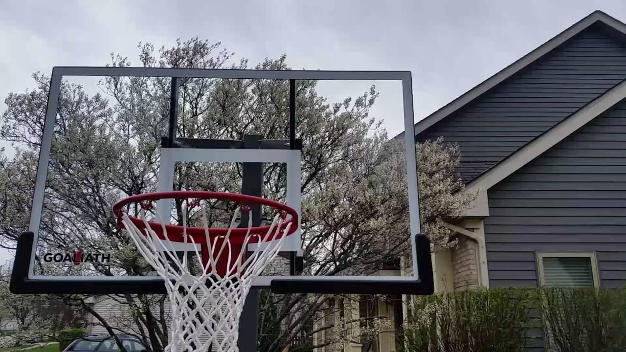 goaliath adjustable inground basketball hoop - In Ground Basketball Hoop