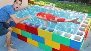 BUILDING a Massive Colorful Pond Out of Blocks!! Part .2