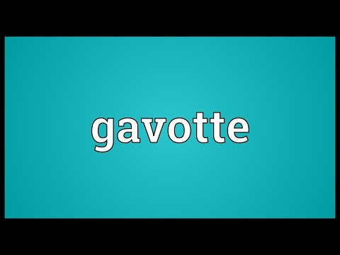 Header of gavotte