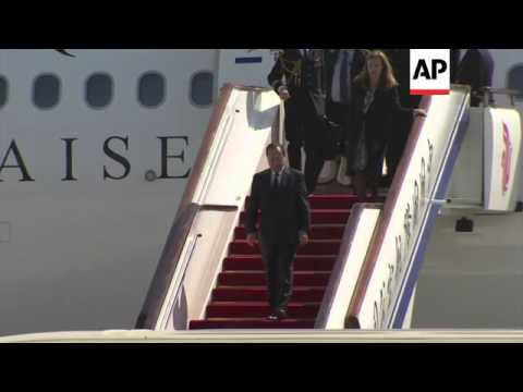 French President Hollande arrives in China