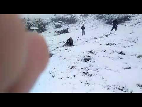 Waziristan During Snow Fall Civilian Enjoying The Snowvy Weather