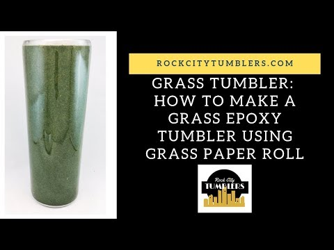 Grass Epoxy Tumbler using Grass Paper Roll by Rock City Tumblers