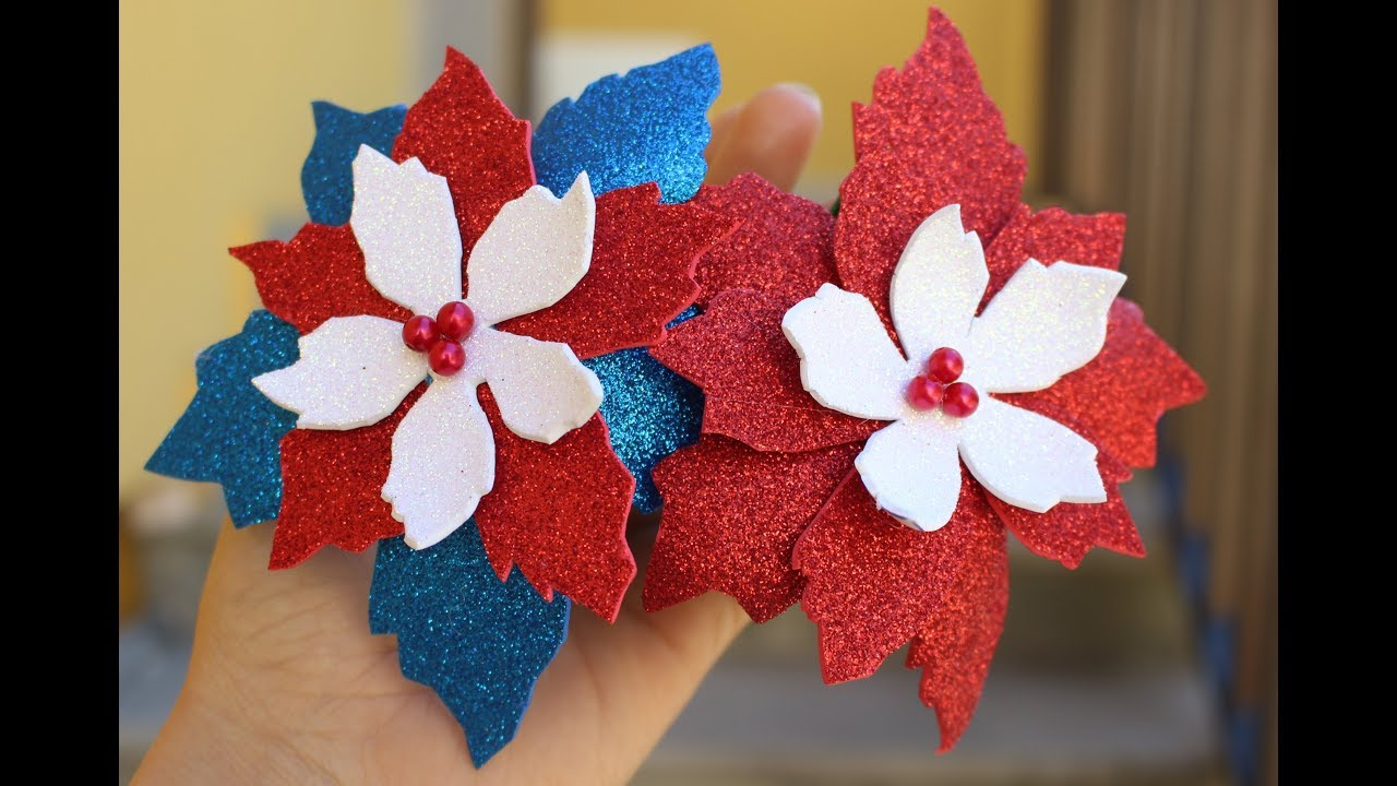 Stella Di Natale In Fommy How To Make A Poinsettia With Fommy