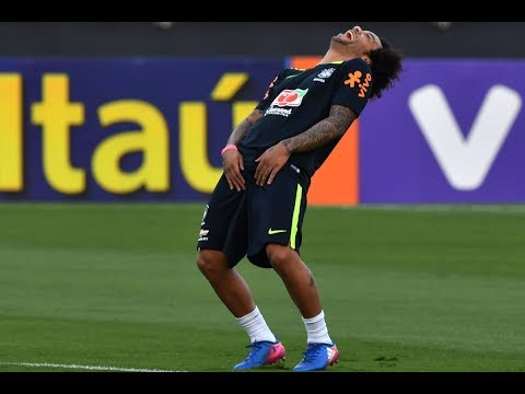 Brasil Marcelo Funny Moments In Training with Neymar 2018 Fifa Russia