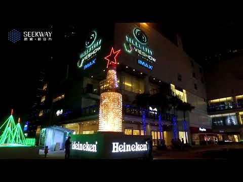 Heineken brightens the Christmas night in Taiwan by Seekway 3D LED cubes.