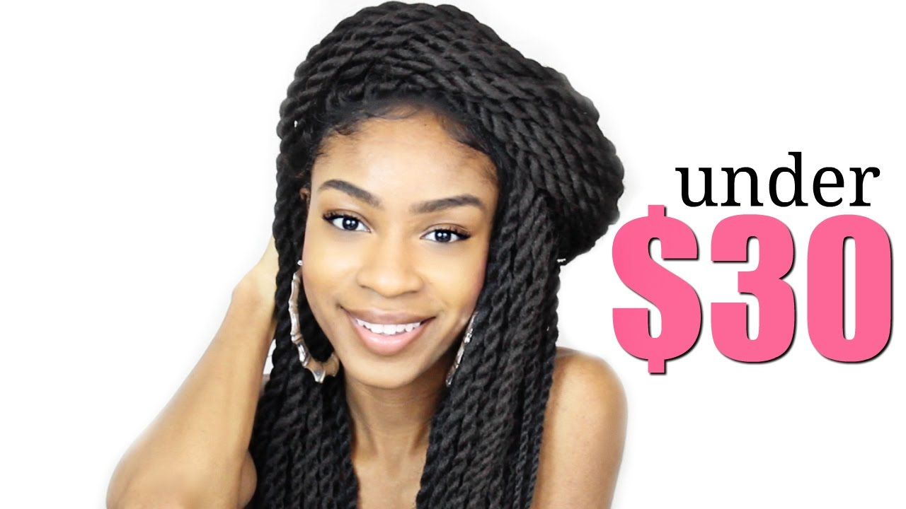 Braided Wig Under 30 Outre Braided Lace Front Wig Reggae Twist Large