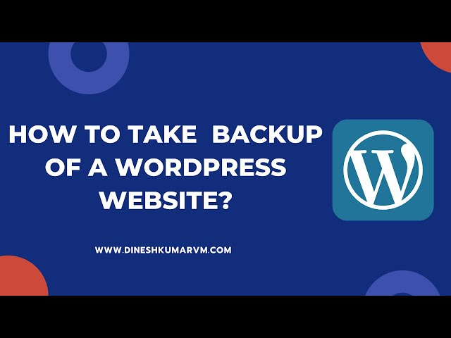 How to Backup WordPress Website? | Using All in One WP Migration Plugin