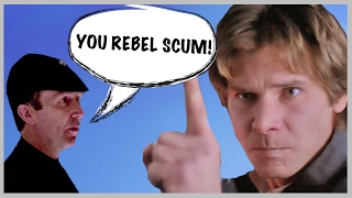 "YOU REBEL SCUM actor says ""Harrison Ford Slapped Me!"" (Star Wars Interview)"