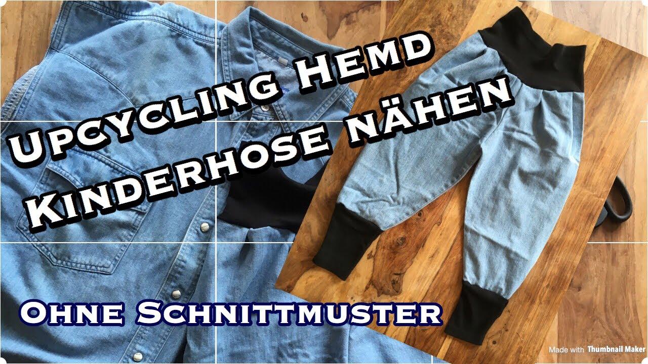 Upcycling Idee Herren Hemd Armel Zu Susser Kinderhose Nahen Ohne