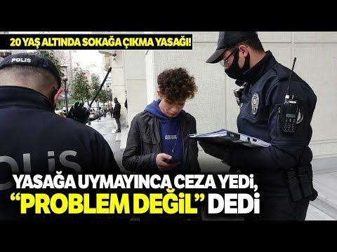 Sokağa Çıkma Yasağını İhlal Eden Gence, Polis 250 TL Ceza Kesti