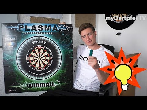 PLASMA Dartboard Beleuchtung von Winmau im Test | UNBOXING | Dart Beleuchtung - myDartpfeil