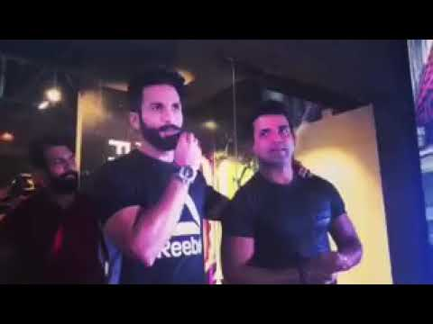 Shahid kapoor at Bangalore for Reebok event