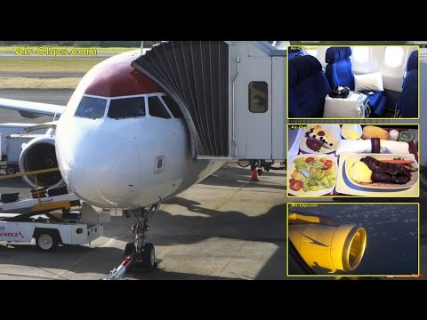 TACA International Airlines A319 Business Class Miami - El Salvador [AirClips full flight series]