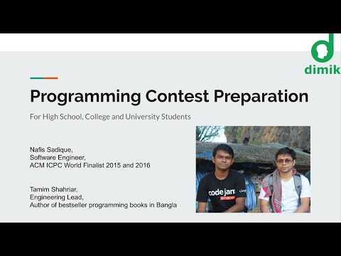 Programming Contest - Preparation and Team Work - প্রোগ্রাম