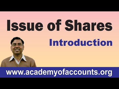 #1 Issue of Shares ~ Introduction and Basic Journal Entries
