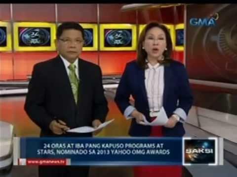 24 Oras at iba pang Kapuso programs at stars, nominado sa 2013 Yahoo OMG Awards