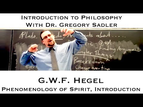 Georg W.F. Hegel, Phenomenology of Spirit, Introduction - Introduction to Philosophy