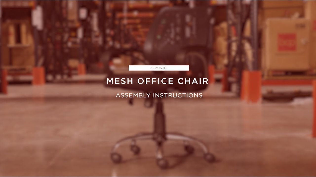 Assembly Mesh Office Chair Sky1630 Youtube