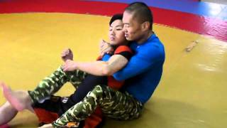 Head and Arm Choke from Back (2011-07-02)