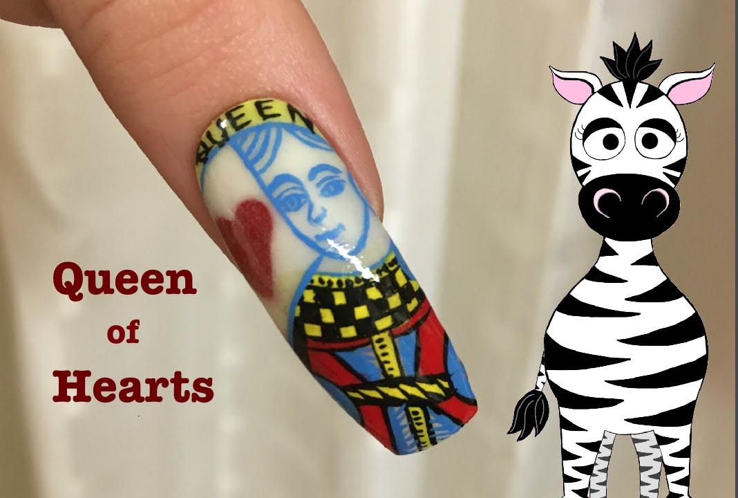 Queen of hearts acrylic nail art design tutorial youtube queen of hearts acrylic nail art design tutorial prinsesfo Choice Image
