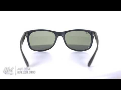 5e86563266c Ray-Ban Wayfarer Black Rubber Sunglasses RB2132 622 55 - Overview ...
