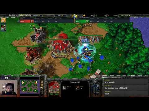 Sok (HU) vs 120 (Orc) - WarCraft 3 - Unusual Strategy - WC####