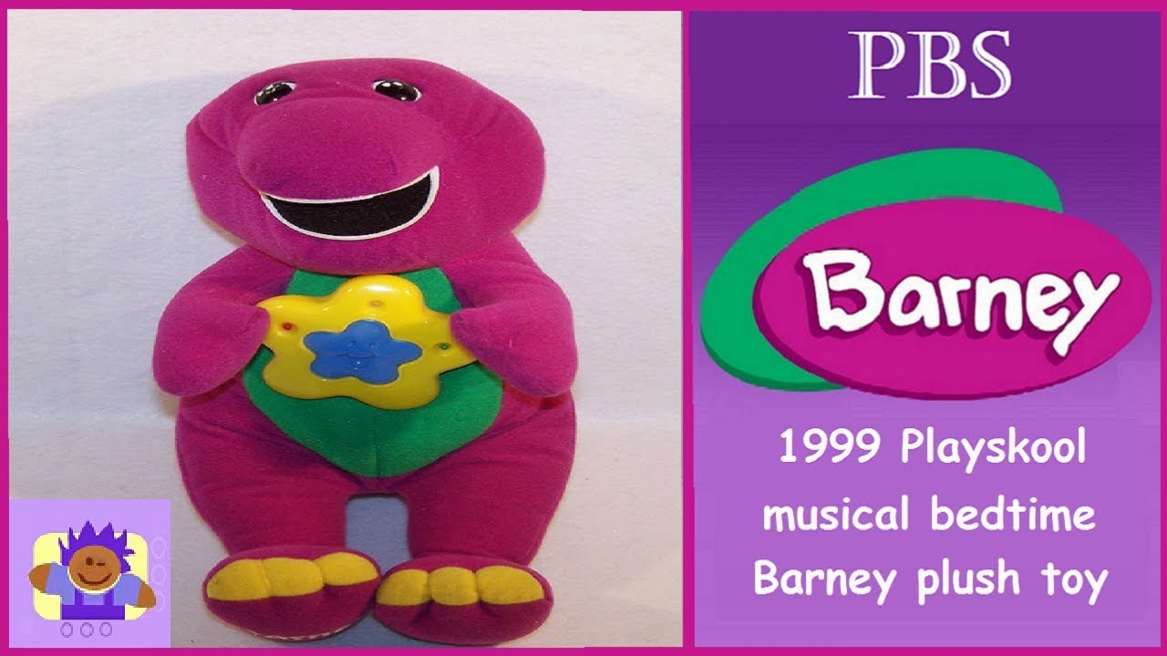 Toys For Bedtime : Pbs musical bedtime barney the purple dinosaur plush