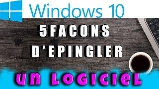Comment épingler un programme à la barre des tâches Windows 10 #AlloOrdi