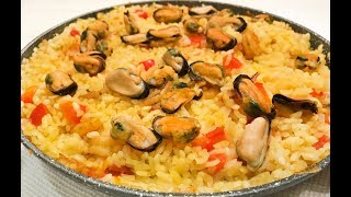 Паэлья с морепродуктами - традиционное испанское блюдо
