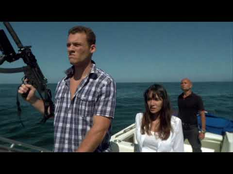 Andy shot at Sharktopus which dragged the reporter into sea