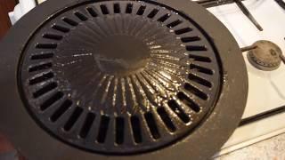 Как прокалить чугунную сковороду ''Гриль-газ''?