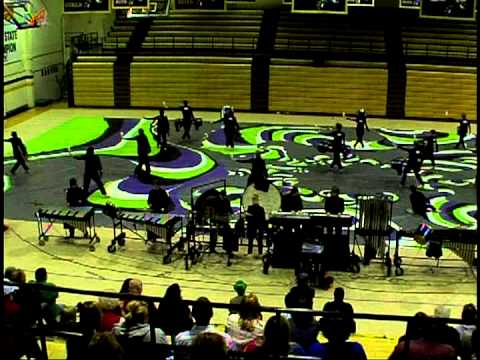 "Corydon Central Winter Drumline Program Conceptual Abstraction ""emotive"" 2013 at Elizabethtown"