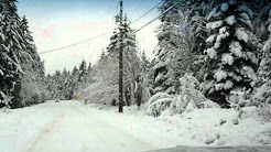 Winter driving to Errington bc.