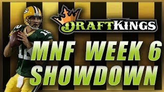 DRAFTKINGS NFL WEEK 6 MNF SHOWDOWN LINEUP TIPS: 49ers Packers