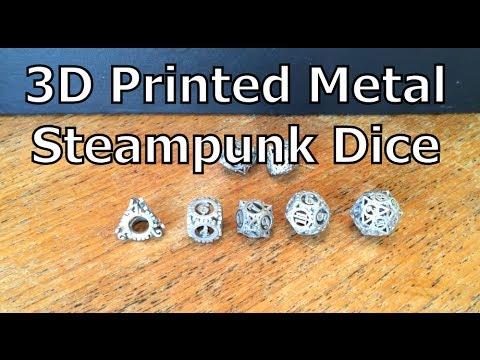 Dice - 3D Printed Metal, Steampunk, Dungeons & Dragons