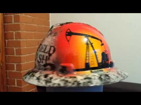 oilfield trash custom hard hat