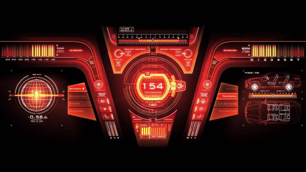 FUTURE DESIGN HiTech Car User Interface GUI Dashboard - Cool car dashboards