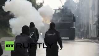 Colombia: See FARC supporters CLASH with Bogota police