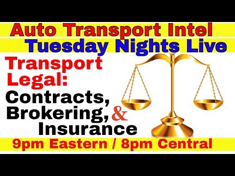 Transport Legal: Carrier, Dispatcher, Contracts, Brokering & Insurance