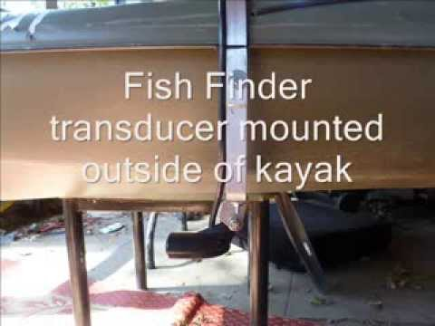 $4 kayak transducer mount - lowrance elite 4x hdi - fish finder, Fish Finder