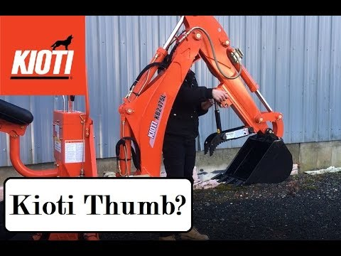 Adding a Thumb to a Kioti Tractor Backhoe - KB2475L