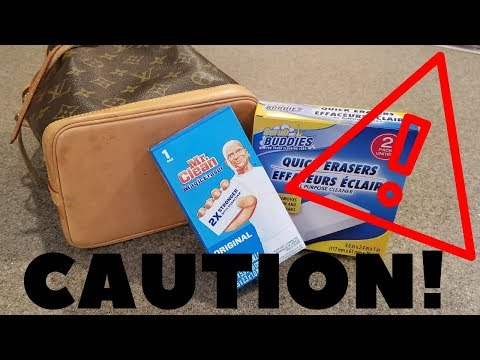 Cleaning A Louis Vuitton With A Magic Eraser | Danger!!! Caution!!! Don't Use On Leather