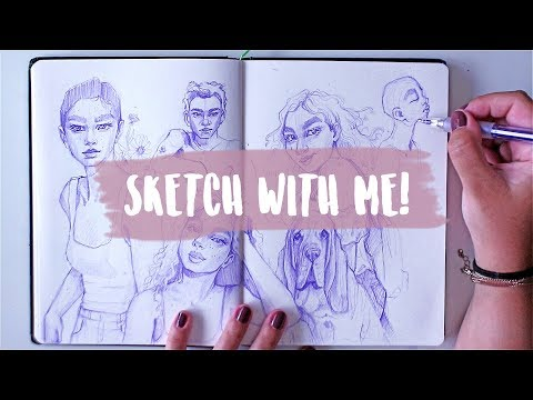 Sketch + Chat With Me! // Filling In A Double Spread