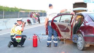Halálos baleset az M0 autóúton Dunaharasztinál