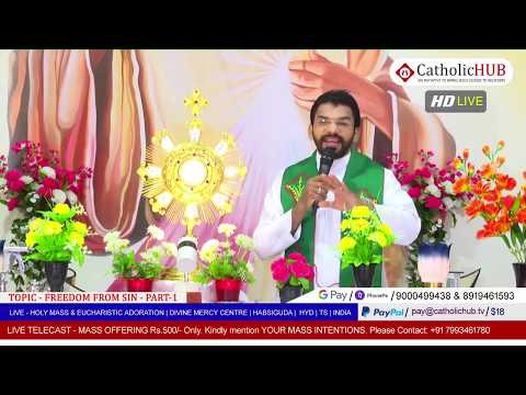 HOLY MASS | Freedom from Sin Part 01 | REV.FR.BENNY SVD | DMC | HABSIGUDA | HYD | 11-05-2020