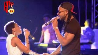 CHIDINMA AND FLAVOUR KISS ON STAGE