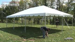 20 x 40 Classic Frame Tent - Installation Procedure