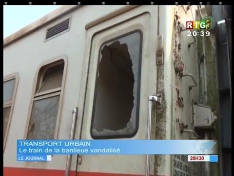 www.guineesud - Le train de banlieue Conakry express vandalisé : le 09.01.2018
