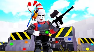 PLAYING ROBLOX BIG PAINTBALL FOR THE FIRST TIME