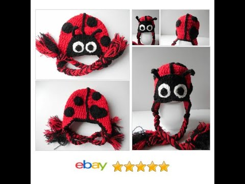 LadyBug Baby Hat - Ready to Ship  044425b9b2ef